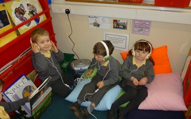 Reading in Reception.