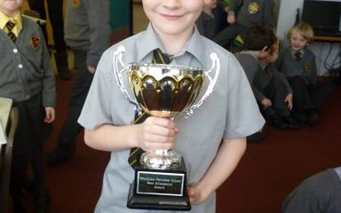 Year 2 win attendance cup!