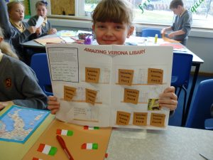 Lucy's 'Library' of Verona facts - a very creative idea!
