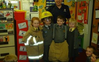 Year 1 become Junior Fire Safety Officers