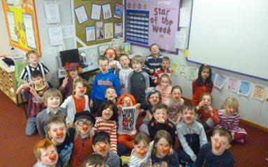 Fun in year 2 on Red Nose Day!