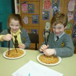 The children enjoyed trying to use chopsticks!