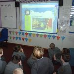 The children watched informative website about how to stay safe on the internet.