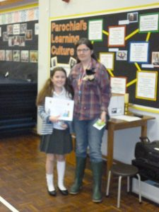 The Year Five winner, Imogen Forster
